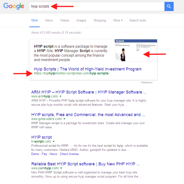 Google Search on 'Hyp Scripts'
