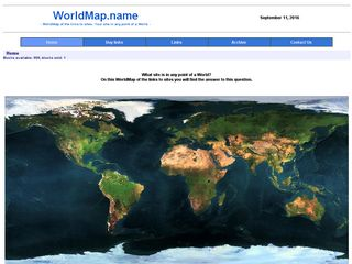 World Map of the links to sites. Mapping your site in any point of a World.